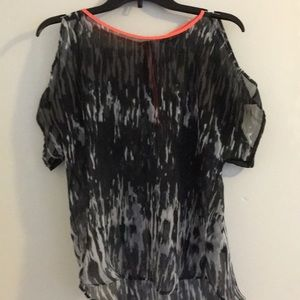 Express XS Black and Gray Top